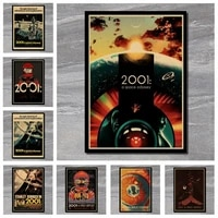 Affiche de film classique Odyssey  peinture decorative murale  retro  espace  2001