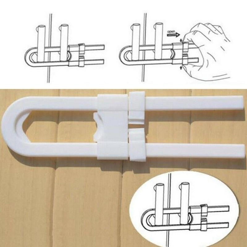 12Pcs/Set U-Shaped Lock Child Safety Cabinet Latches Kid Baby Closet Kitchen Door