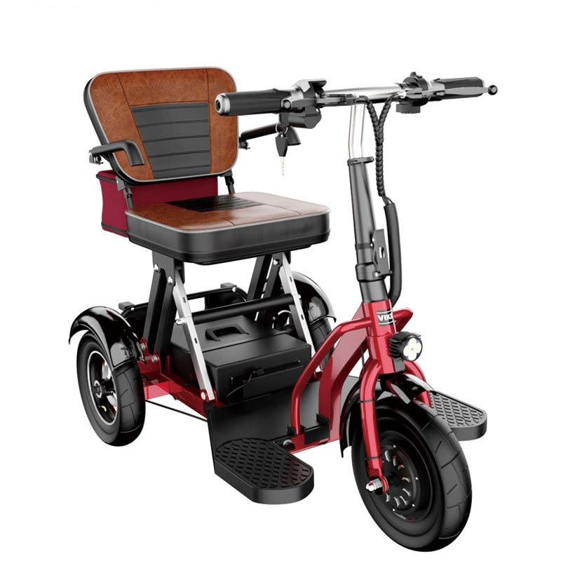 K-STAR المسنين الترفيه سيارة كهربائية قابلة للطي دراجة ثلاثية العجلات الكهربائية بدلا من المشي الكبار سيارة صغيرة صغيرة للمعاقين