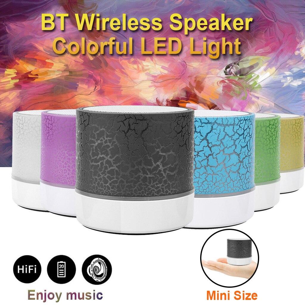 Minialtavoz estéreo inalámbrico De alta fidelidad, reproductor De Mp3 con luz colorida,...
