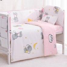 Berceau en forme déléphant 6/9 pièces   Ensemble de lit pour tout petit, lit de bébé avec choc de 120x60/120x70cm