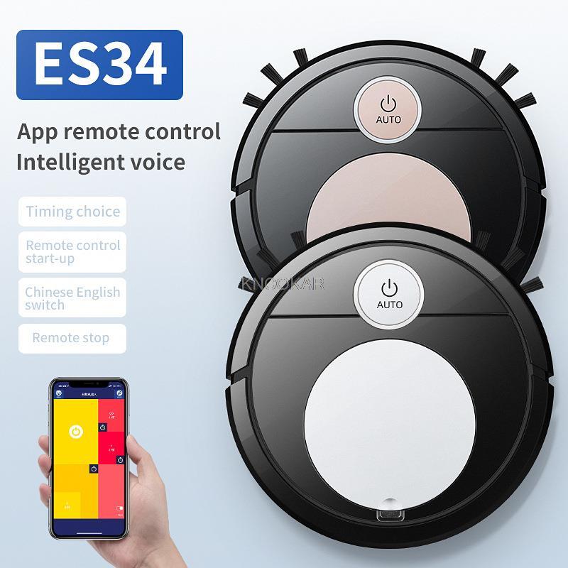 ES34 المنزل الذكي مكانس كهربائية للكنس صوت التطبيق التحكم عن بعد تلمس تلقائيا ثلاثة في واحد مكنسة كهربائية كسول الأنظف