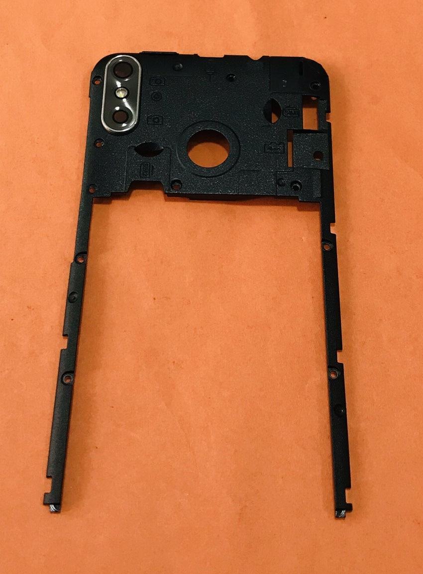 Carcasa de Marco trasero Original usada + Cristal de cámara + antenas para Cubot R11 MT6580 Quad sin núcleo envío