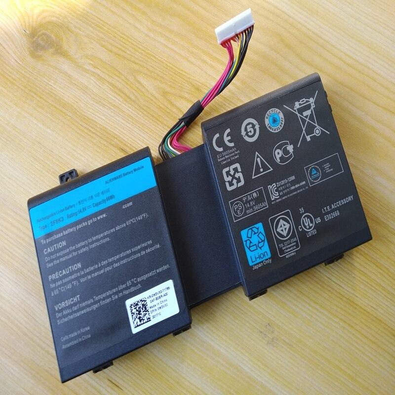 لديل من Alienware 17 18 R1 17X 18X M17X-R5 M18X-R3 2F8K3 02F8K3 KJ2PX 0KJ2PX 0G33TT G33TT الأصلي كمبيوتر محمول جديد بطارية 86Wh