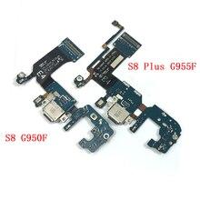 Original para Samsung Galaxy S8 G950F S8 Plus G955F auriculares Jack micrófono puerto USB puerto de carga cable flexible de conector Dock