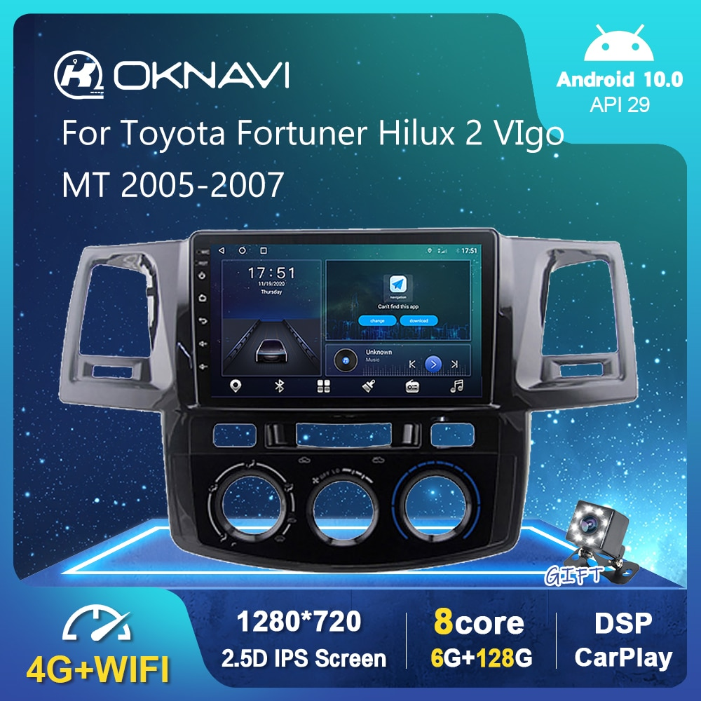 6G 128G Android 10,0 reproductor de Radio para coche para Toyota Fortuner...