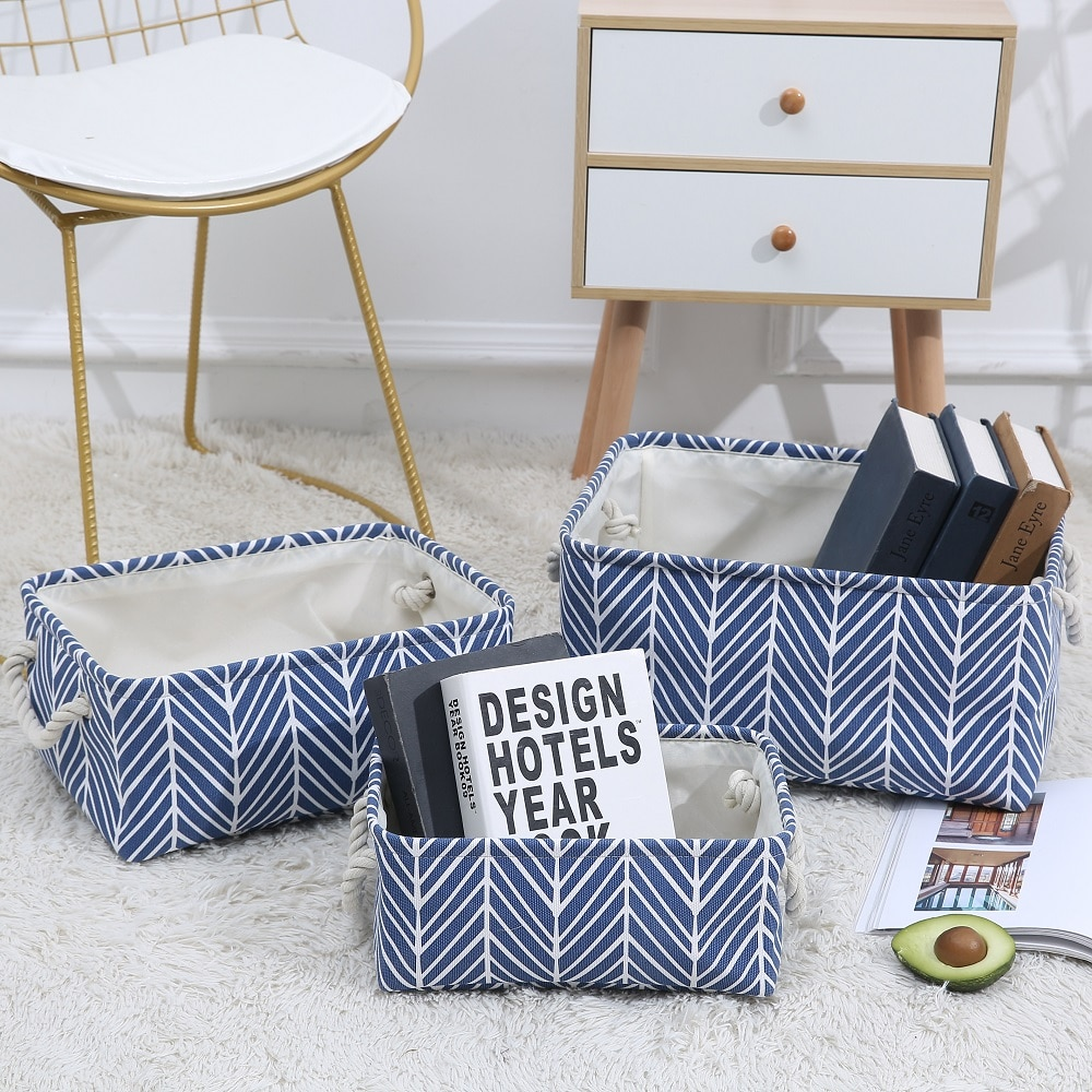 New folding canvas Fabric Storage Box Home Organizer Solution for Office Bedroom Closet Toys Laundry basket