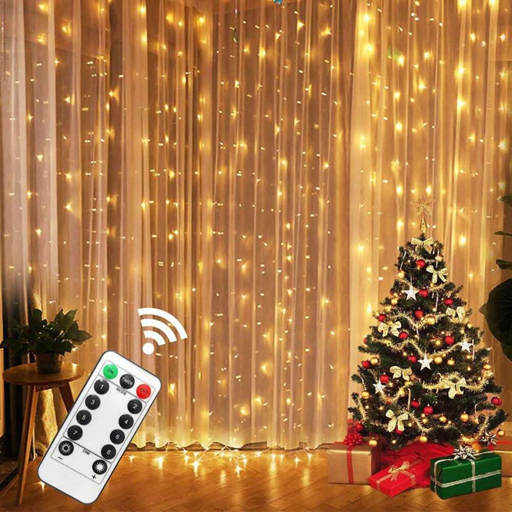 3m 300 LED Vorhang String Licht-Girlande Rustikalen Hochzeit Party Dekorationen Tisch Braut Dusche Bachelorette Liefert