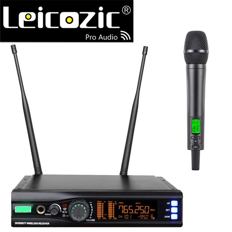 Micrófono profesional de mano, sistema con micrófono inalámbrico, equipo de Audio UHF...