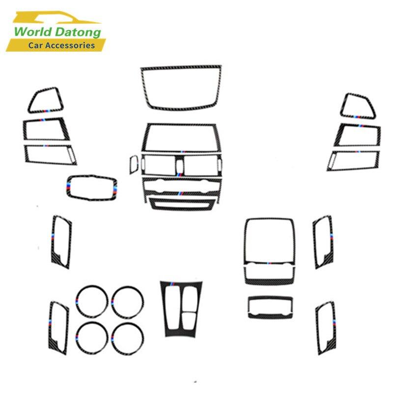 Accessories For BMW X5 E70 X6 E71 2008~2013 Interior Carbon Fiber Decoration Cover Trim
