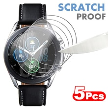 5Pcs 9H Premium Tempered Glass For Samsung Galaxy Watch 3 41MM & 45MM Smartwatch Screen Protector Fi