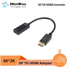 DP to HDMI-compatible 4K Cable PC DisplayPort to HDMI-compatible Mini Projector Projetor TV Televisi