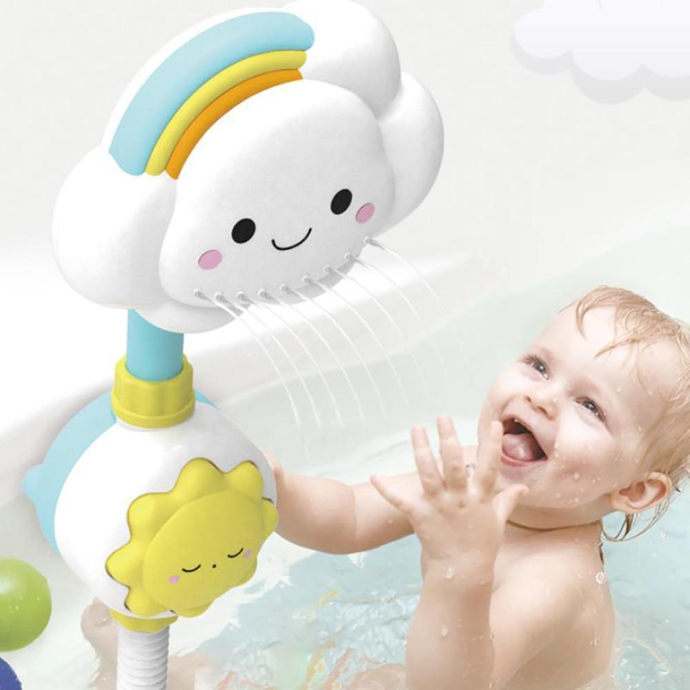 Bañera juguete de baño para bebé agua juguetes nube arco iris de juguete de baño duchas de ventosas de ventosa de juegos infantiles juguetes