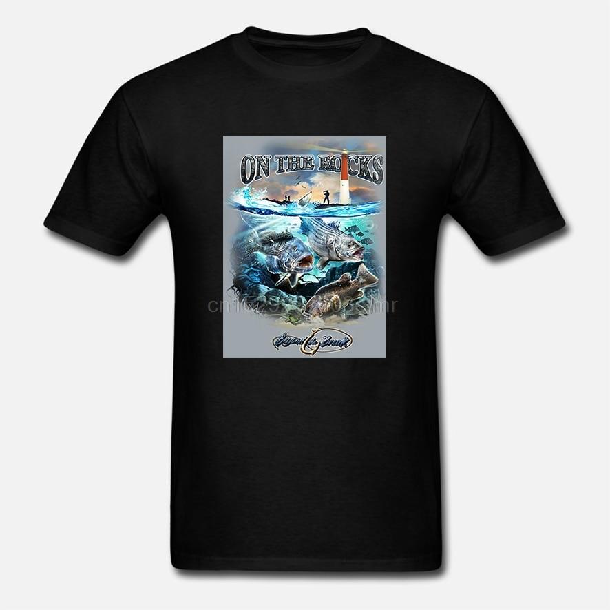 Pasiasty bas morski bas czarna rybka T Shirt BTB2373
