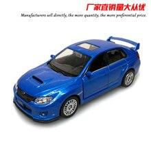 UNI 1/36 échelle voiture jouets japon Subaru STI moulé sous pression métal tirer arrière voiture modèle jouet pour cadeau/Collection/enfants