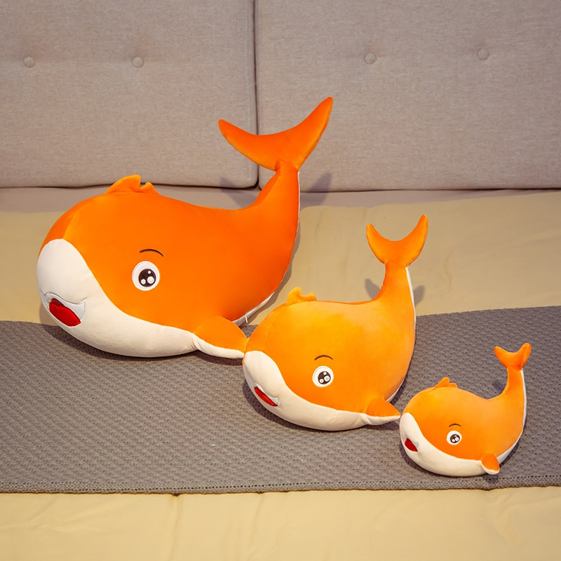 Hot Nice Huggable Colorful Whale Plush Toys Stuffed Sea Animal Doll Soft Shark Pillow Cushion Kids Baby Toy Lovely Birthday Gift  - buy with discount