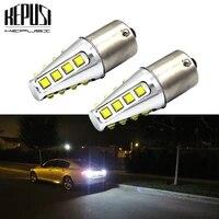 2x 1156 ba15s p21w led 7506 7527 auto led bulb car lights brake turn signal reverse light parking light 12v 24 white high bright