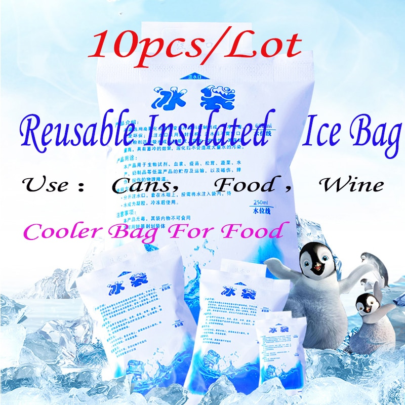 ice pack 10pieces insulated in customized reusable dry cold ice pack gel cooler bag for lunch box food cans wine medical 10pcs/Lot Reusable Insulated Ice Bag Gel Pack Cans Food Wine Use Dry Cold Cooler Bag For Food Fresh Bolsa Termica 100-1000ml PE