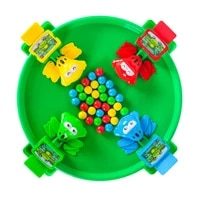 boys girls children eat beans greedy frog parent child interactive two person toy tabletop puzzle game funny party line up game