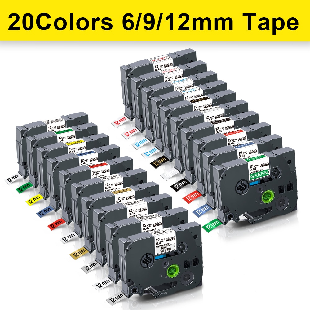 12mm-231-multicolors-laminated-label-tape-compatible-for-tz-231-tz231-for-brother-tze-231-tze-231-p-touch-label-printers-ribbon