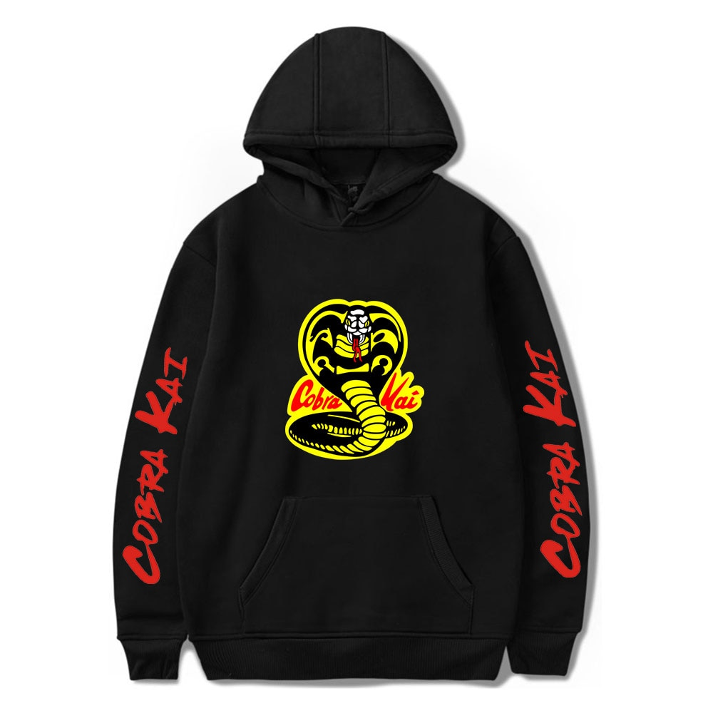 New Personality Men Women Sweatshirts COBRA KAI Hoodie Harajuku Hip Hop Hoody COBRA KAI  boys girls Hooded Casual black ullovers