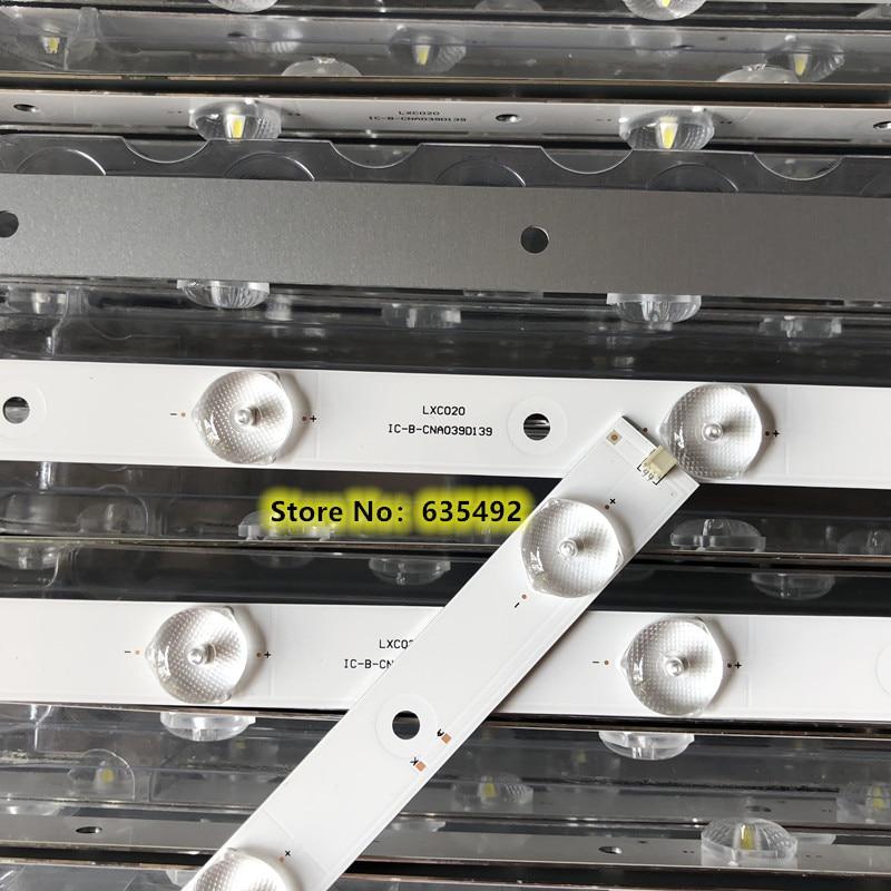 1 juego = 3 uds. 100% nueva tira de retroiluminación 10 lámparas para IC-E-CNA039D139 Proscan 39 pulgadas pantalla LCD TV V390HJ1-P02 3V