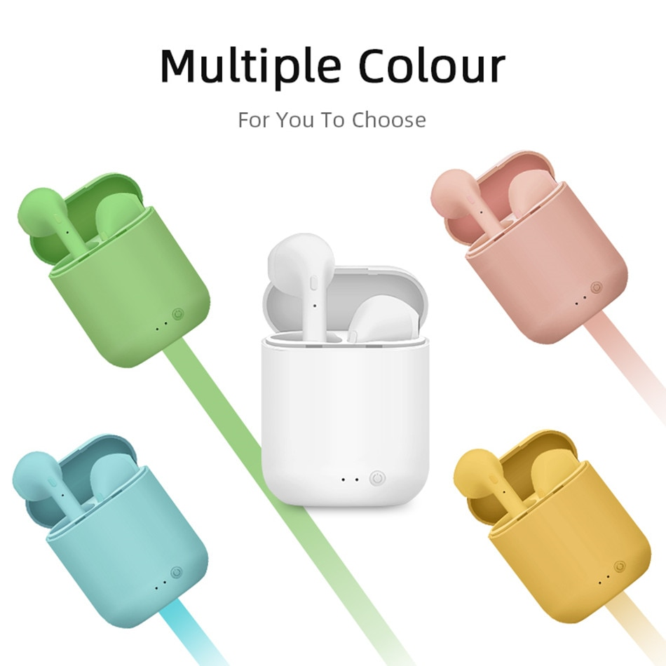 Mini-2 Tws بلوتوث 5.0 سماعة لاسلكية سماعات مع ميكروفون شحن صندوق سماعات للأذن صغيرة سماعات رأس رياضية ل هاتف ذكي جديد i7s