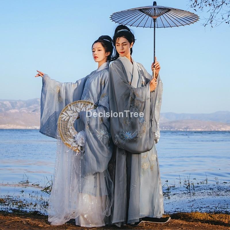 فستان هانفو الصيني التقليدي 2021 ، ملابس مطبوعة بالزهور ، زي رقص شعبي أنيق ، أداء ، ملابس هندية تقليدية