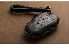 1 PCS Echtem Leder Schlüssel Abdeckung Schlüssel Fall Für Peugeot 301 308 408 2014 2008 3085 508 2015 307 407 3008 2017 Smart key fall