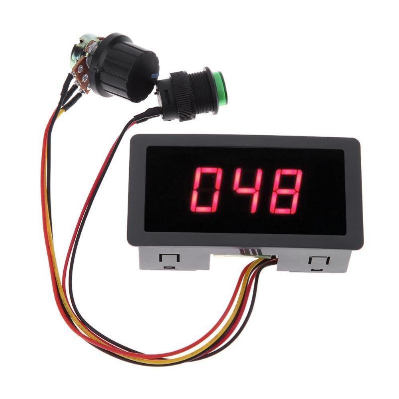 CCM5D pantalla Digital LED 6V 12V 24V PWM controlador de Motor regulador de Control de velocidad ajustable alimentación-apagado permanente Dropshipping