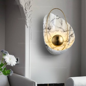 white shell wall lamp black shell wall sconce nordic loft wall mounted light decoration bedroom lights stair lighting in hallway