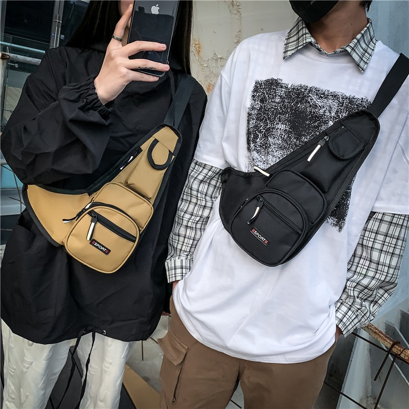 THREEPEAS Oxford Tactical Waist Bag Hip-hop Vest Casual Function Outdoor Chest Bag with Reflective