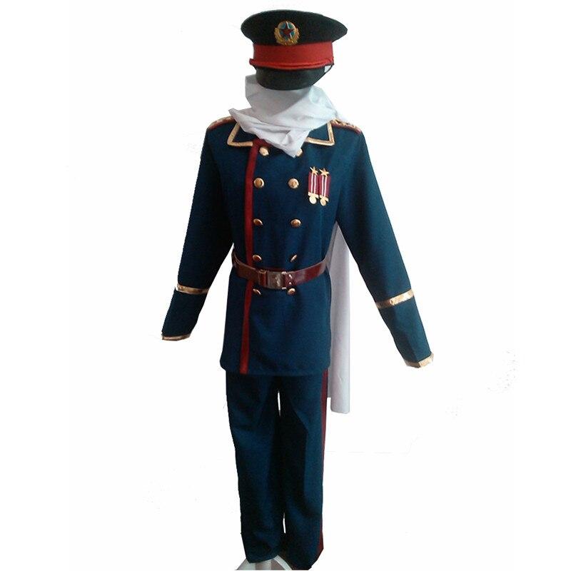 2020 Anime japonés Hetalia APH Unión Soviética Rusia Ivan braguinskiy y Cosplay disfraces militares uniforme