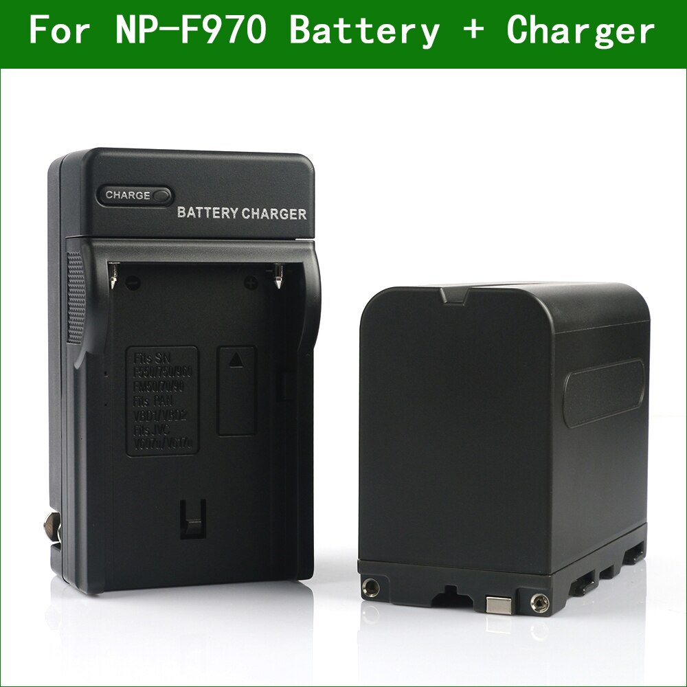 Lanfulang NP-F970 NP F970 Camera Digital Battery & Charger for Sony NP F330 F550 F570 F730 F750 F770 F930 F950 F960 F980 F990