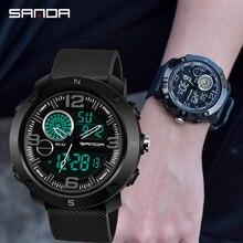 SANDA Fashion G Style Sports Mens Digital Watches Army Military Quartz Watch Waterproof Shock LED Digital Chronograph Clock