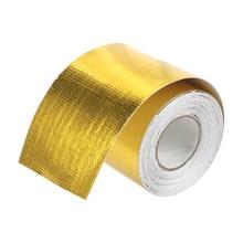 5cm*5m Car Accessories Gold High Temperature Resistance Insulation Self adhesive Tape Intake Tube Aluminum Foil Tape