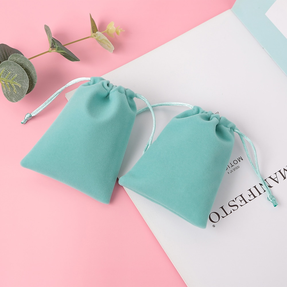 AliExpress - 50Pcs/Lot Jewelry Velvet Drawstring Bag Gift Packaging Pouches Wedding Party Decoration Eyelashes Makeup Cotton Storage Bags