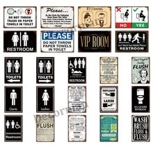 [ Mike86 ] TOILETS RESTROOOM VIP BATHROOM TIN Sign Retro Wall Posters iron Painting Gift art LTA-1734 20*30 CM
