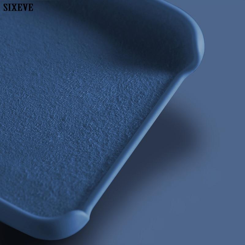 Funda de silicona líquida de lujo a prueba de golpes para iPhone XS Max X XR 6 S 6 S 8 7 Plus 6Plus 7 Plus 8Plus carcasa de teléfono móvil