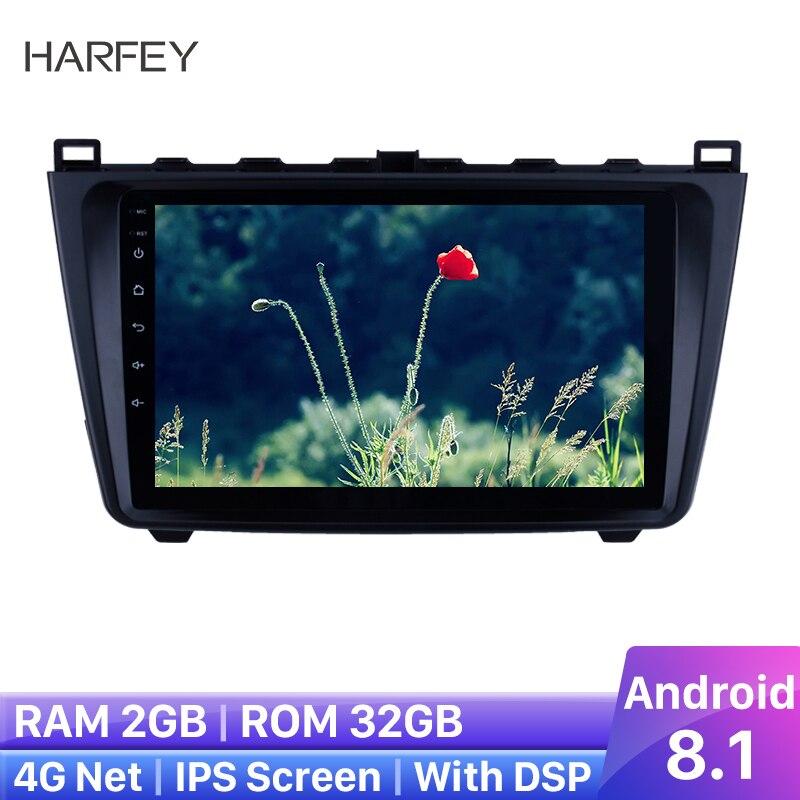 Harfey-lecteur multimédia 9   version supérieure, GPS, autoradio, Android 8.1 2DIN, pour Mazda 6 Rui wing 2008 2009 2010 2014-, caméra de sauvegarde