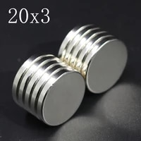 251015 pcs 20x3 neodymium magnet 20mm x 3mm n35 ndfeb round super powerful strong permanent magnetic imanes disc 30x30