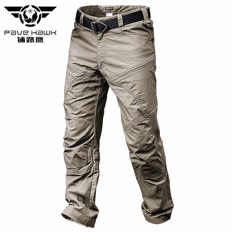 PAVEHAWK Cargo Pants Men Elastic Waterproof Army Tactical Military Hiking Trekking Jogger Casual Tro