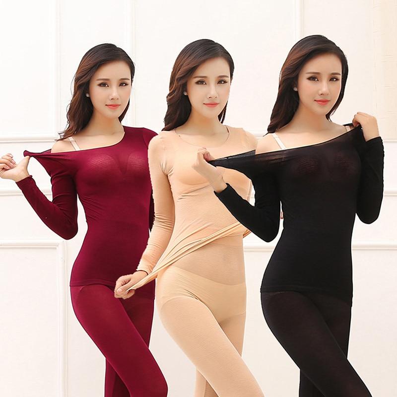 Thermal Underwear For Women Sexy Warm Long Johns For Women Seamless Winter Thermal Underwear Set War