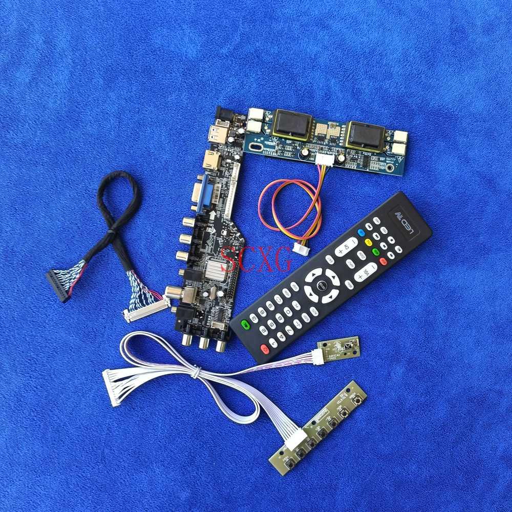 بطاقة وحدة التحكم 1280*1024 LVDS-30Pin 4CCFL عدة HDMI متوافق VGA AV USB DVB الرقمية صالح LQ170E1LG11/18 LQ170E1LG41 LTD170LL1SG