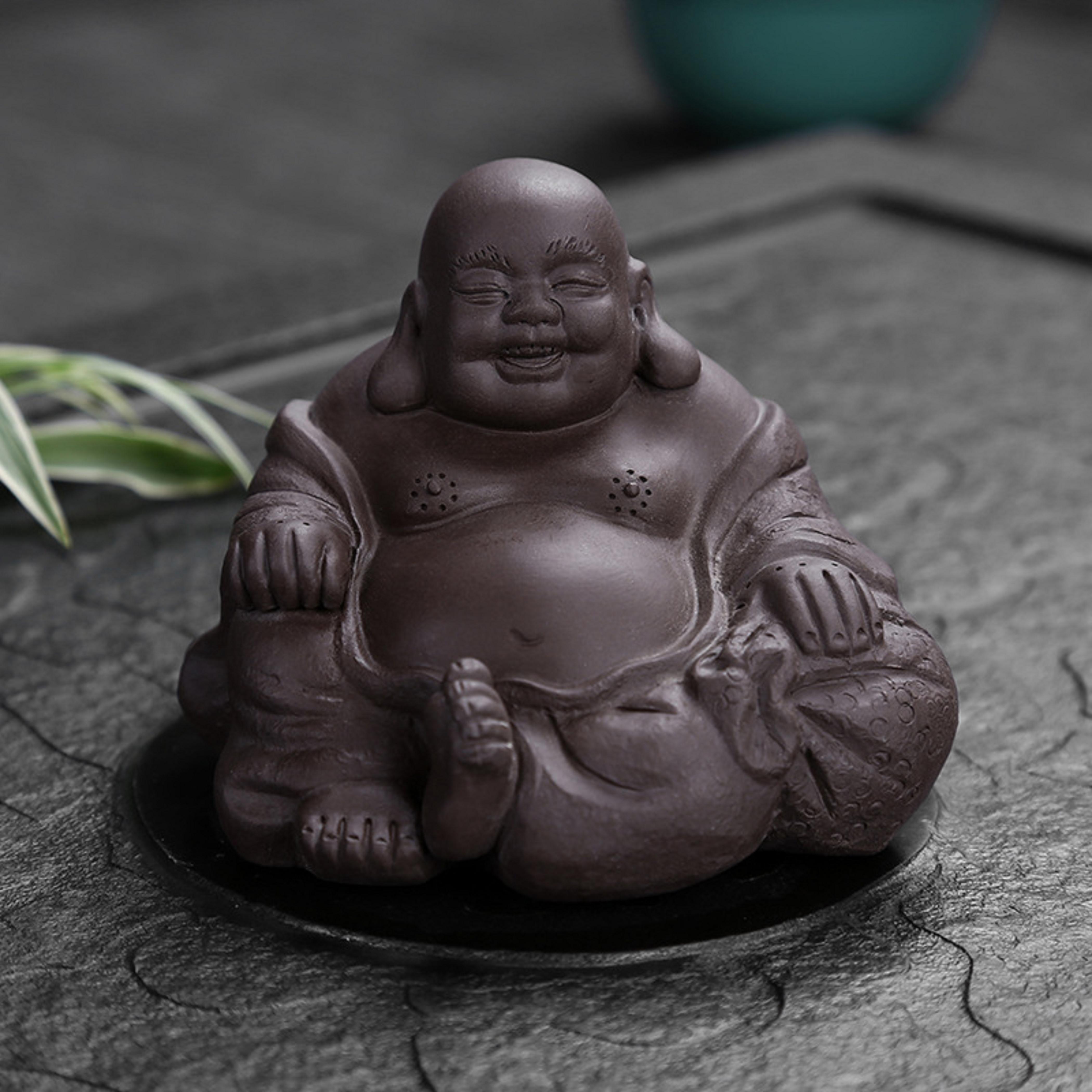 تماثيل بوذا الضحك للرجال ، تماثيل بوذا الضحك ، نحت الشاي للحيوانات الأليفة ، بوذا ، سحر الحرماء