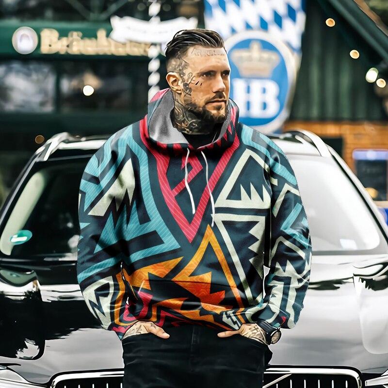 Мужская толстовка с капюшоном, модная повседневная Уличная Толстовка в стиле Харадзюку, толстовка с 3D рисунком, мужская и женская толстовка...
