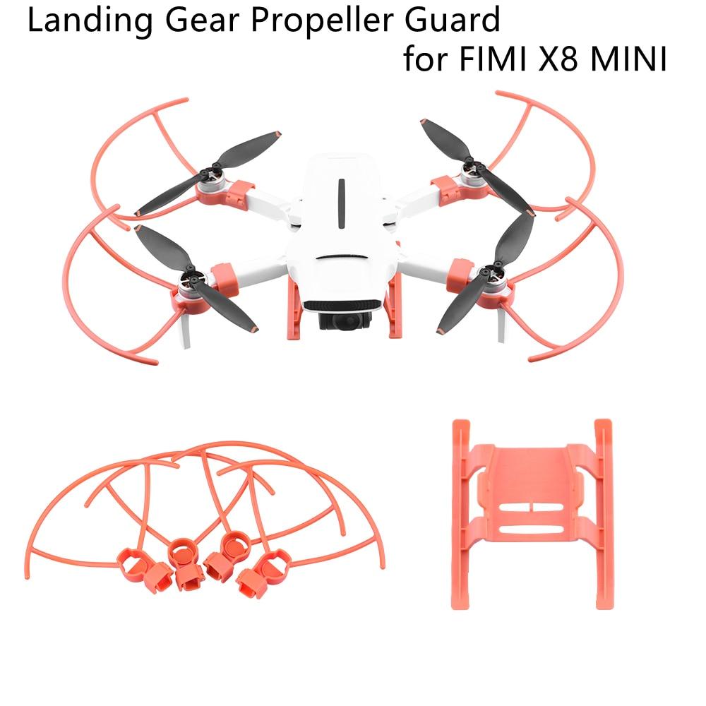 Protetor de trem de pouso para fimi x8, protetor de perna para mini trem de pouso, aumento de 20mm, acessório para drones