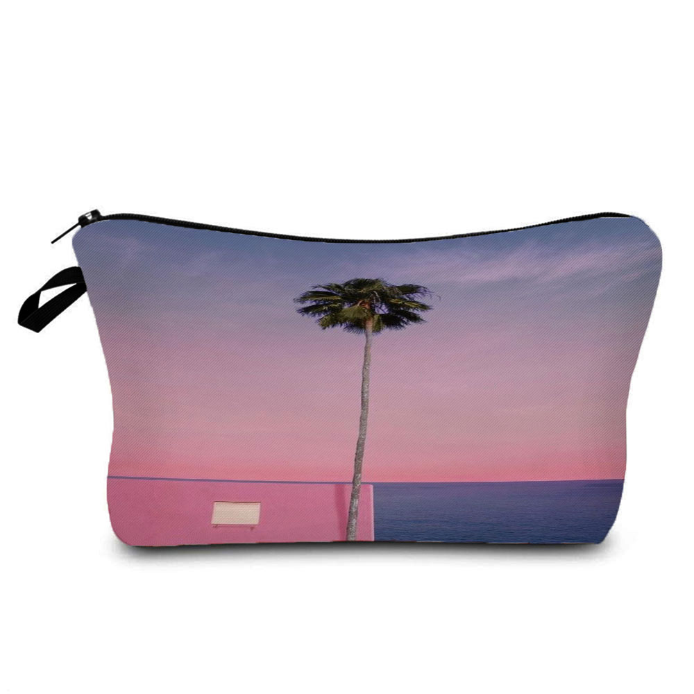 Fashion Printed Tree Cosmetics Organizer Bag Hot Sale Women's Makeup Bag Waterproof Casual Storage B