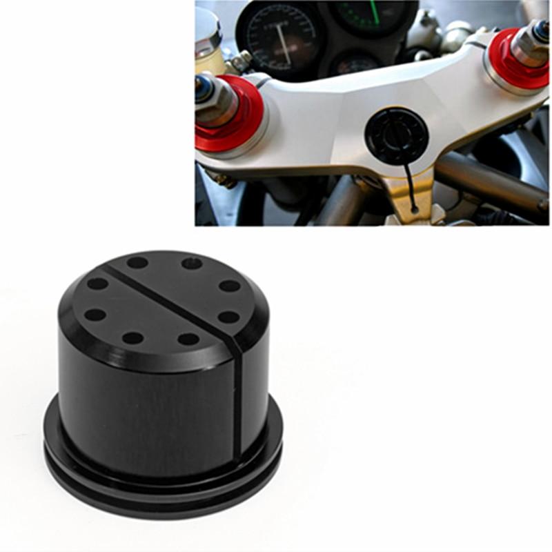 Motorcycle Aluminum Upper Triple Clamp Steering Stem Nut for Ducati 748 749 996 998 999 ST4 ST2 S4R