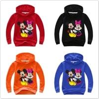 cartoon mickey minnie print hoodies kids sweatshirts baby boys clothes cartoon casual long sleeve t shrits girl pullover outfit